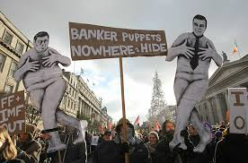 bankers protest