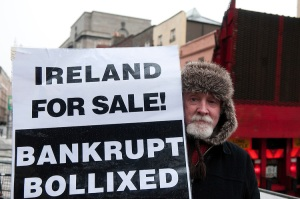 BUDGET PROTESTS DUBLIN