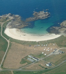 Saye_Beach_Campsite_from_Air